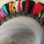 Hat feathers are one of the joys of wearing a fedora!