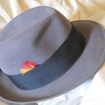 Great all-purpose fedora, vintage gray Dobbs. One of my favorite hats.