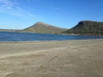 salt lake. Flamingos?