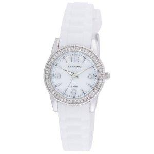 Leijona tyttöjen valkoinen kello