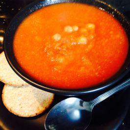 Tomato and Chickpea Soup. Recipe here: https://kellsslimmingworldadventure.wordpress.com/2015/06/28/recipe-tomato-and-chickpea-soup/