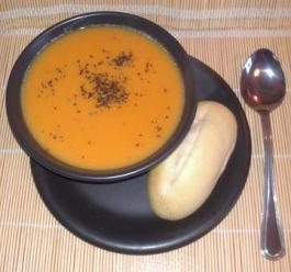 Thai sweet potato and coconut soup. Recipe here: https://kellsslimmingworldadventure.wordpress.com/2015/09/12/recipe-thai-sweet-potato-and-coconut-soup/