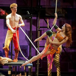 With Henry David Clarke, on aerial ropes, in Henry IV, Parts I & II
