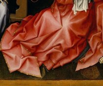 Star of David on the gown of the Virgin