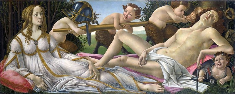 Boticelli's Venus and Mars
