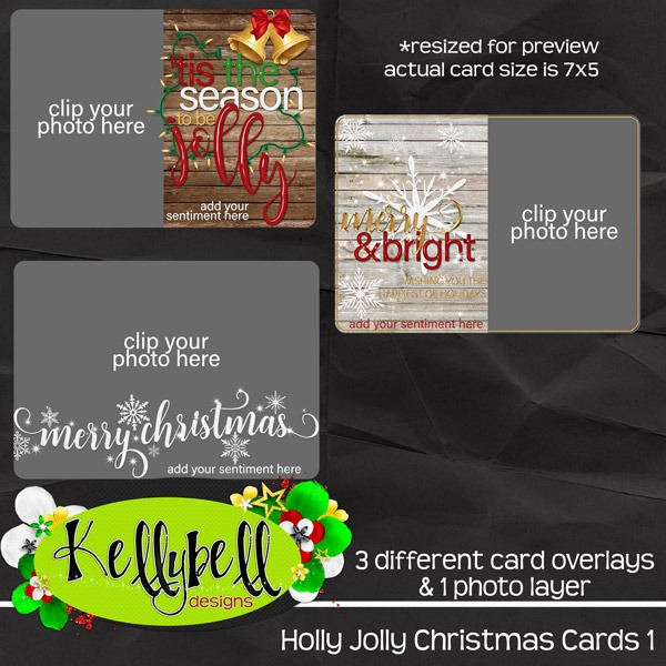 Holly Jolly Cards and new Collage Crazy Covers and Titles