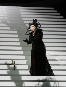 Norma on stairs