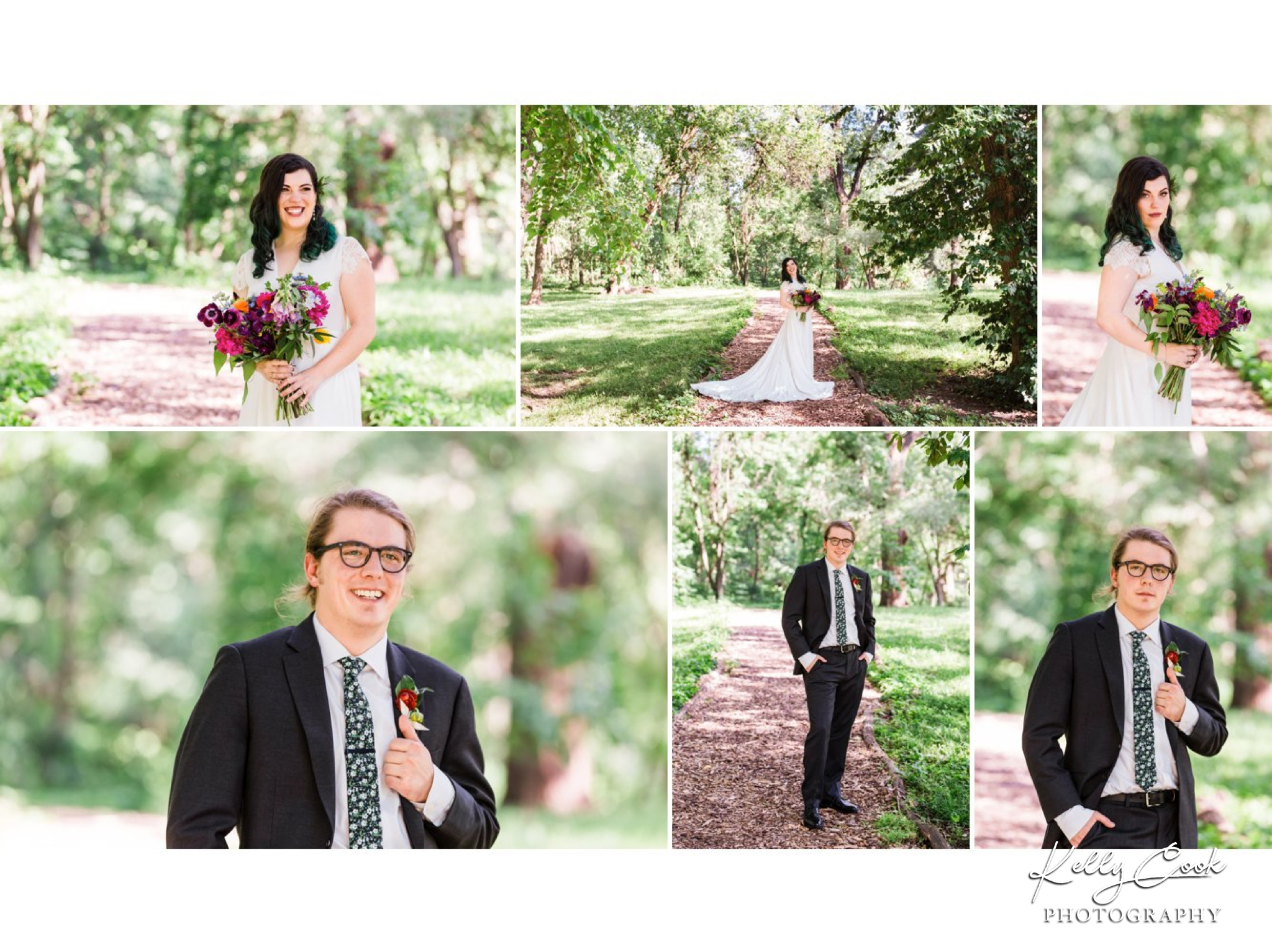 Portraits of bride and groom in Tower Grove Park in St. Louis