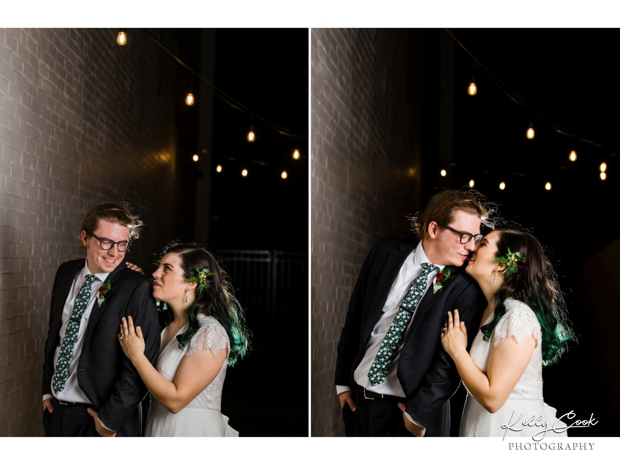 Romantic wedding photos of a bride and groom at their Wild Carrot wedding in St. Louis