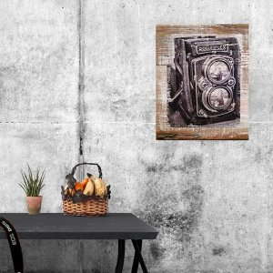 Mockup of Rolleiflex Camera Wall Decor