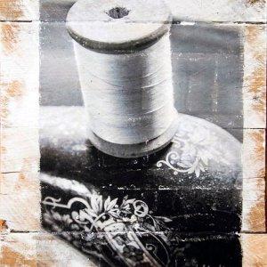 Thread on a Singer Sewing Machine Wall Decor