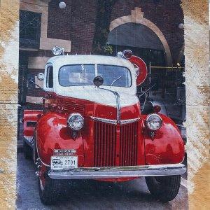 Rosedale Vintage Fire Truck Wall Decor