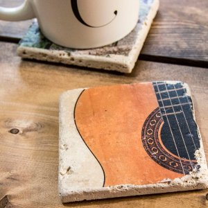 Middle of Guitar Coaster by Kelly Cushing