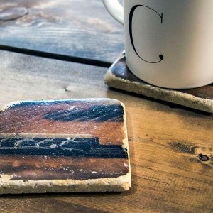 Guitar Bridge Coaster By Kelly Cushing