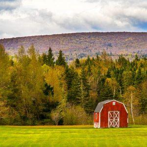 Barn & Mountain by Kelly Cushing