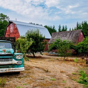 Barn and Chevy 2 by Kelly Cushing