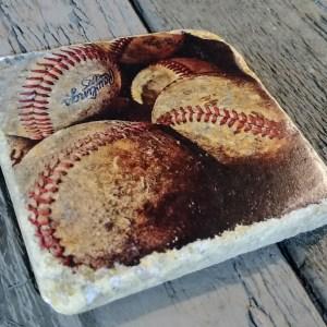 Coaster of Vintage Baseballs