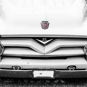 Vintage White Ford Truck