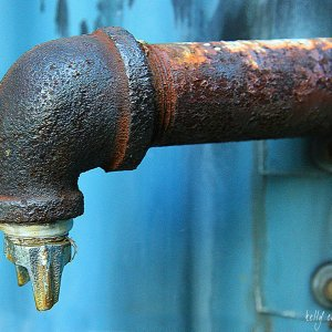 Rusty Drain Pipe by Kelly Cushing