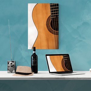 Middle of Guitar Mockup by Kelly Cushing