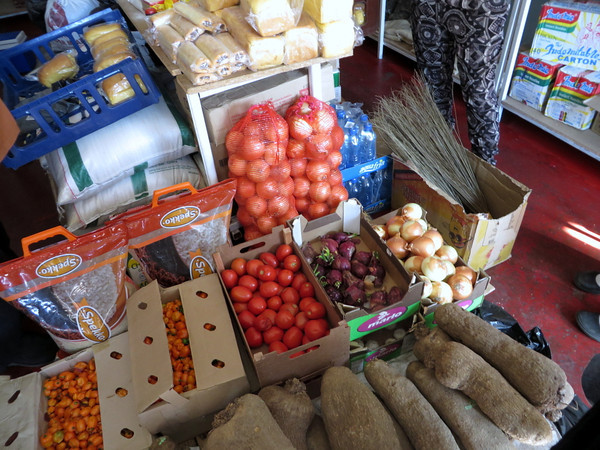 Fresh produce in a Nigerian shop