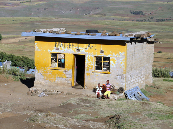 Cafe in a remote village