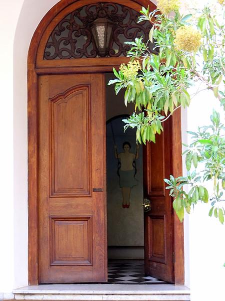 Thick wood door