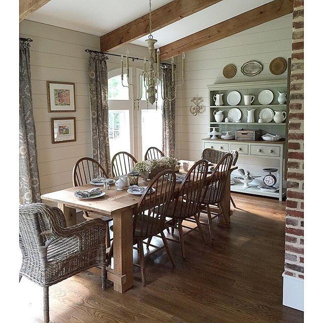 Eclectic Home Tour - Farmhouse Tour on Farmhouse Dining Room Curtain Ideas  id=17952