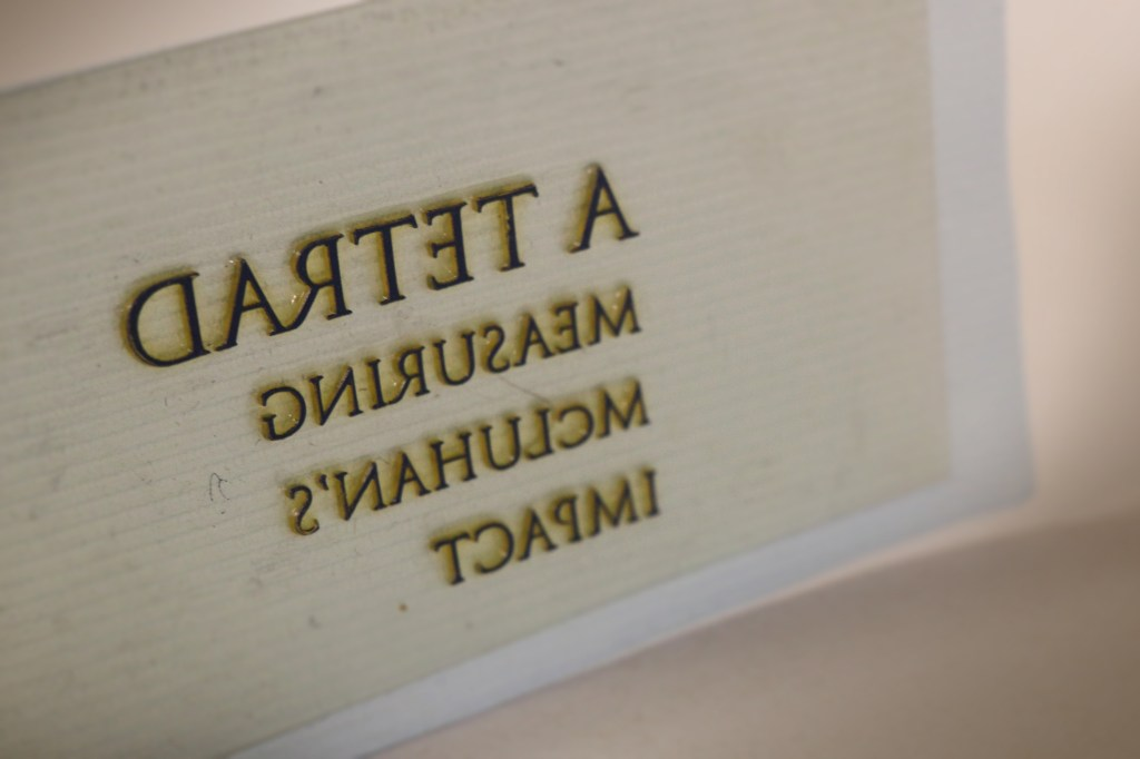 """Detail of """"A Tetrad"""" printing plate"""