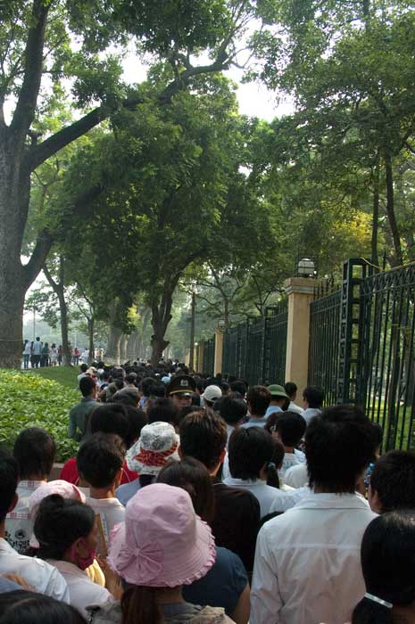 Lineup to see Ho Chi Minh