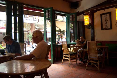 View from table at the Tamarind Cafe