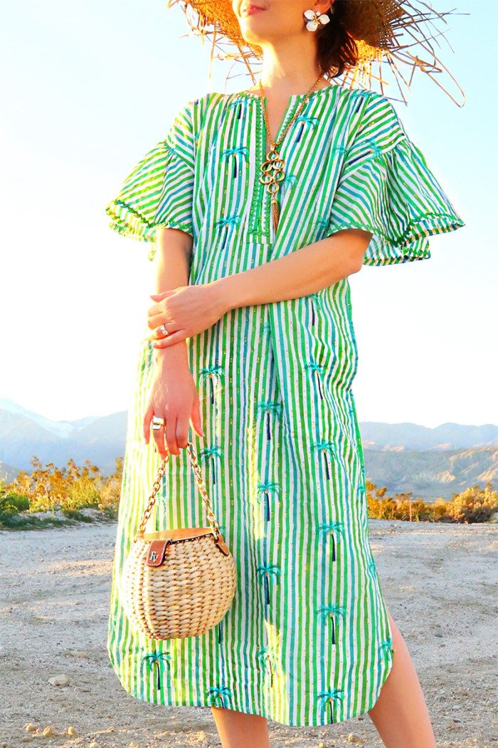 Palm print caftan | Kelly Golightly