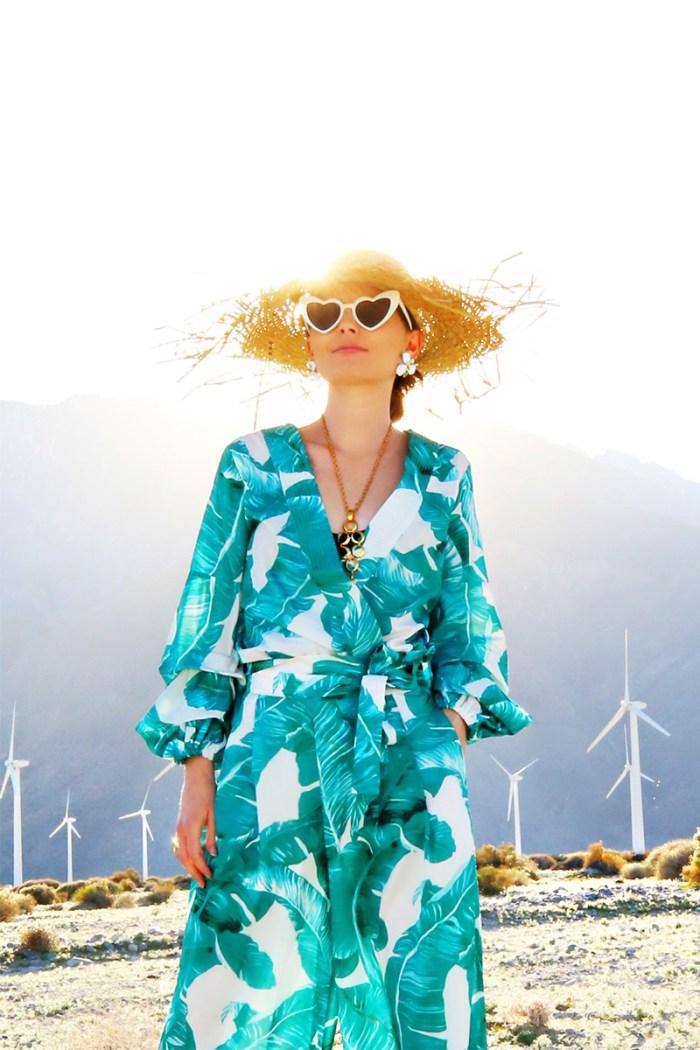 Palm Print Dress Pants + Top | Kelly Golightly