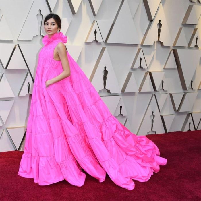 Gemma Chan's pink Valentino dress at the Oscars   Kelly Golightly