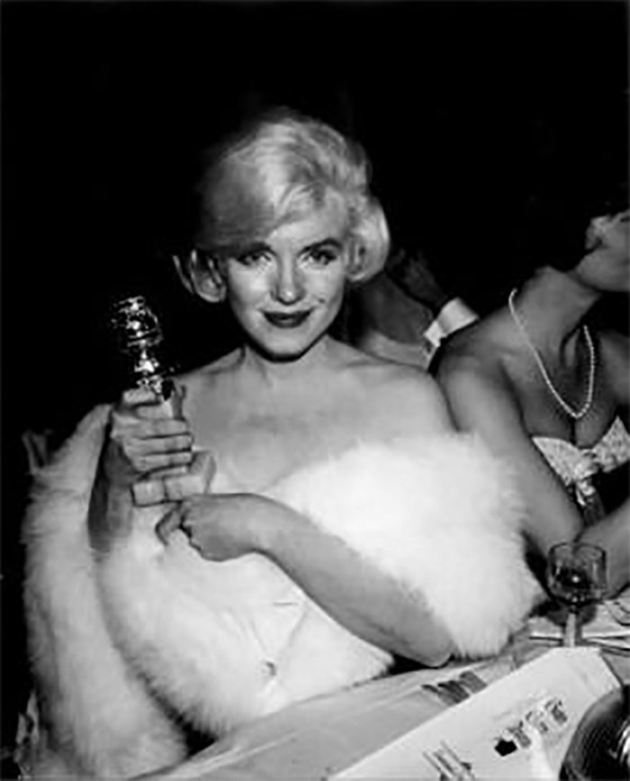 Marilyn at the Golden Globe Awards at Cocoanut Grove Club, Ambassador Hotel, Los Angeles, March 8th 1960