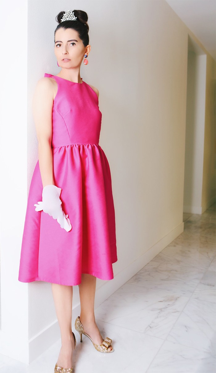 Holly Golightly Pink Dress | Kelly Golightly
