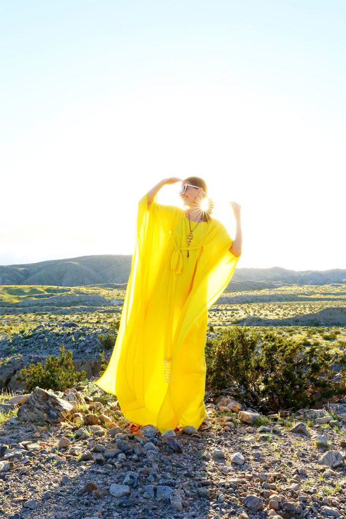 How To Style a Yellow Caftan | Kelly Golightly