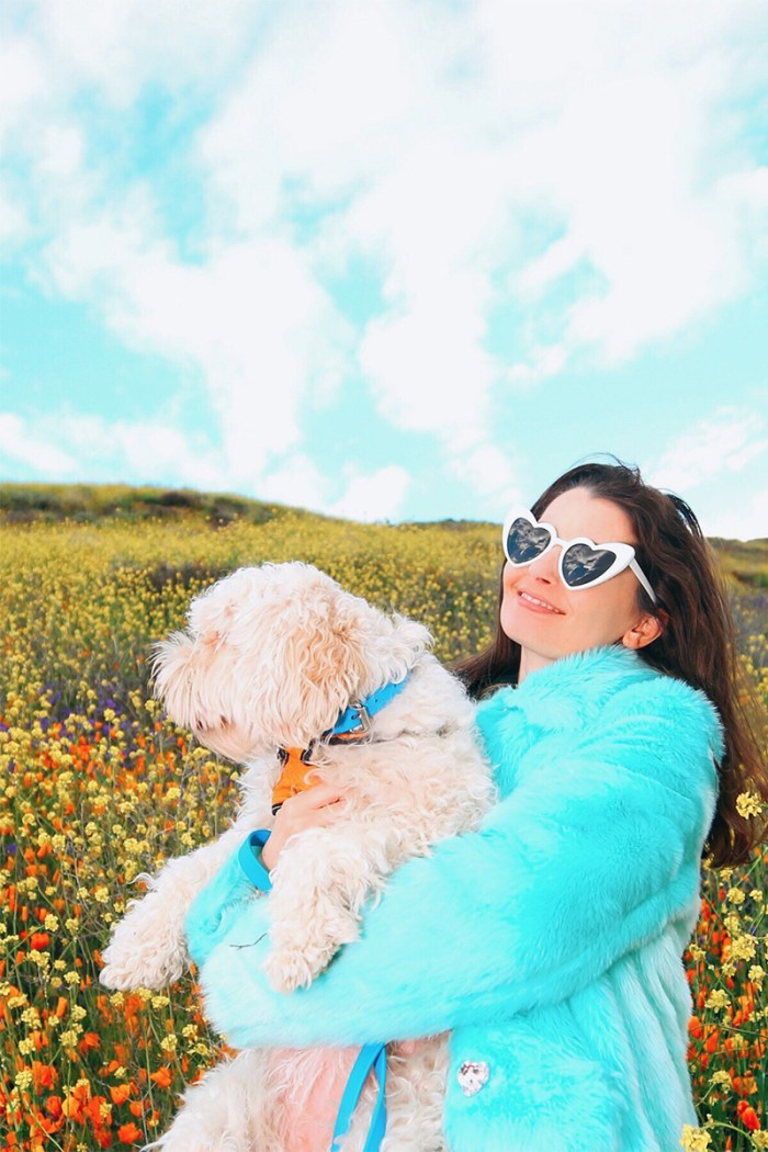 White Heart Sunglasses in the Poppy Fields Lake Elsinore | Kelly Golightly