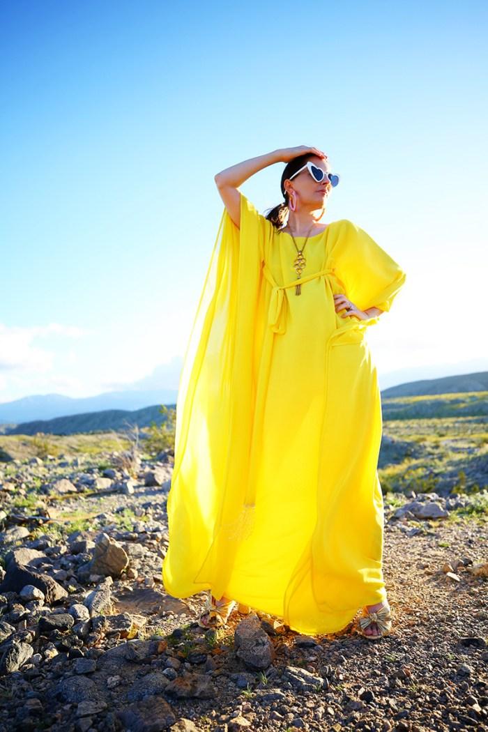 How To Wear a Yellow C=Kaftan   Kelly Golightly