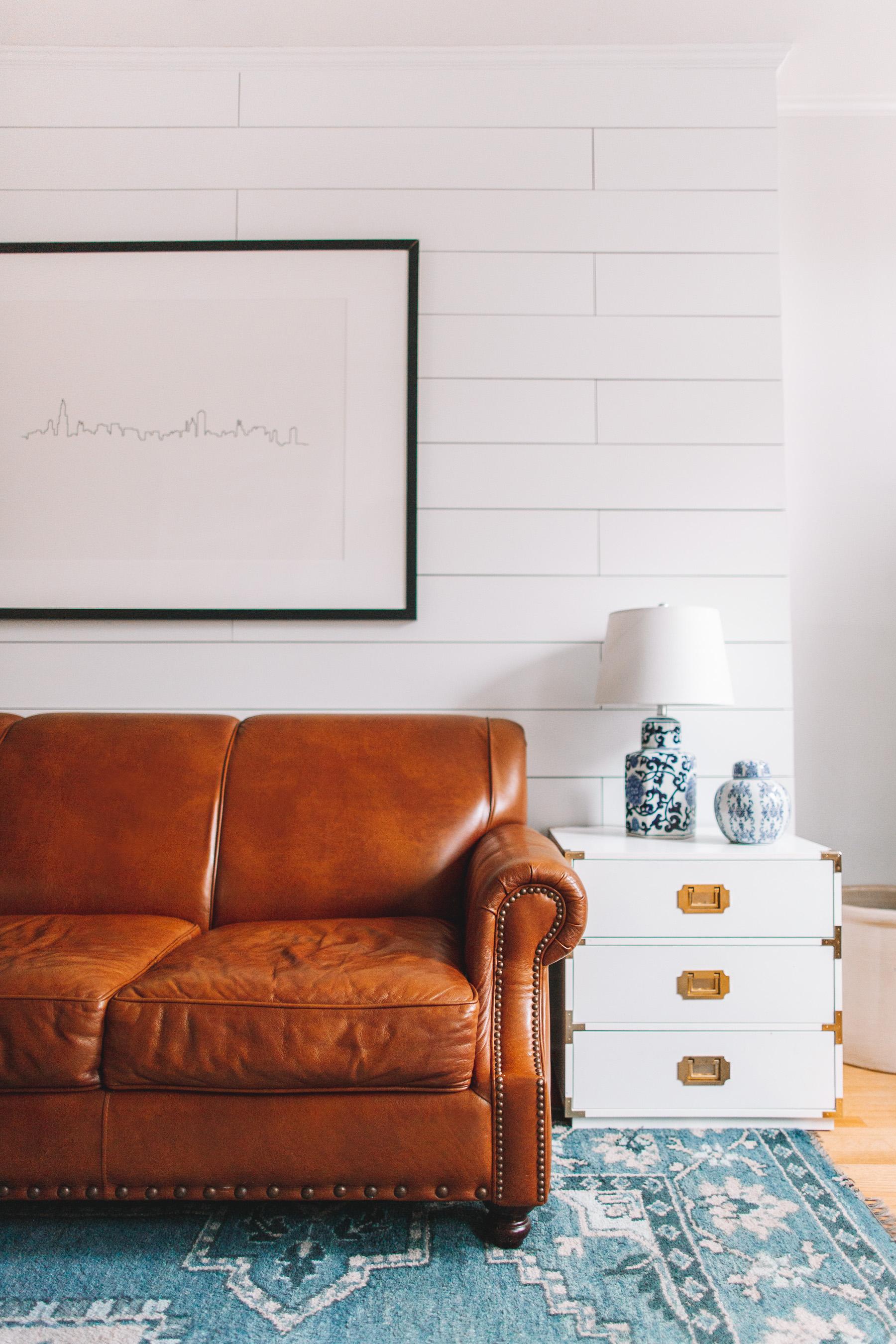 birch lane landry leather sofa review