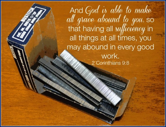 box of staples and 2 Corinthians 9:8