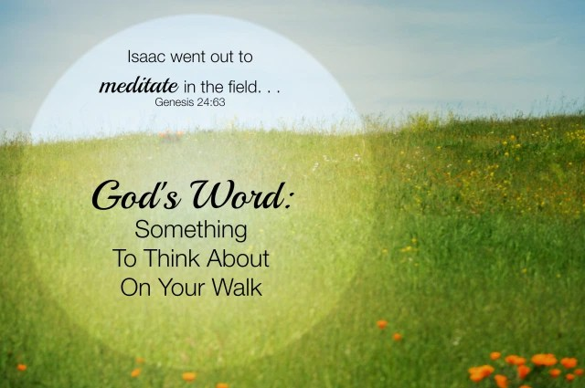 grassy hill with Scripture verse