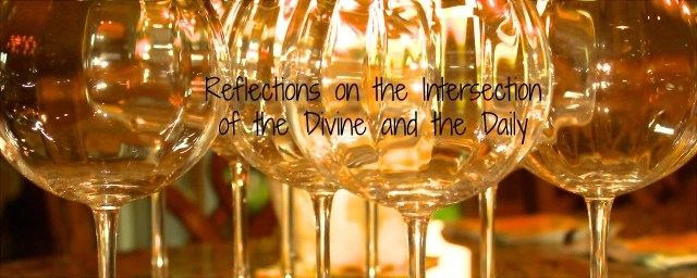 Photo of my wine glasses featured in my first blog header for A Really Full Life