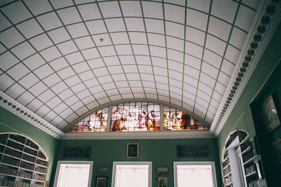 Library in Stourhead House, Wiltshire
