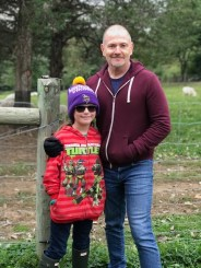 My niece and I on the farm