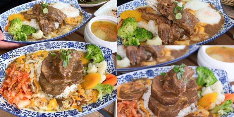 【台南咖哩】A5和牛咖哩飯大升級『貴一郎 S.R.T 燒肉咖哩』軟嫩大塊肉吃起來更過癮,還可以吃A5和牛燒肉!