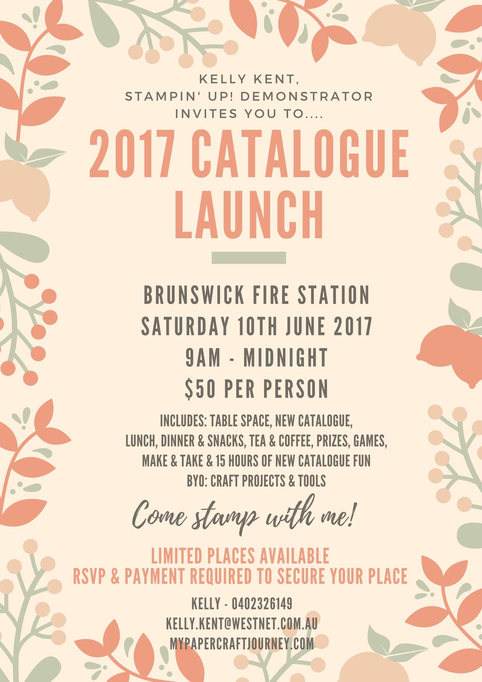 2017 catalogue launch bigger better