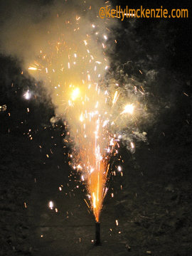 Exploding fireworks on front lawn. http://kellylmckenzie.com/that-embarassingly-unfortunate-rape-alarm-incident/