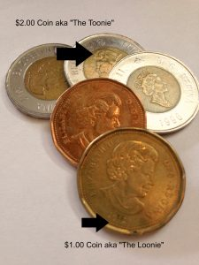 Canadian loonies and toonies http://kellylmckenzie.com/its-all-about-the-money/