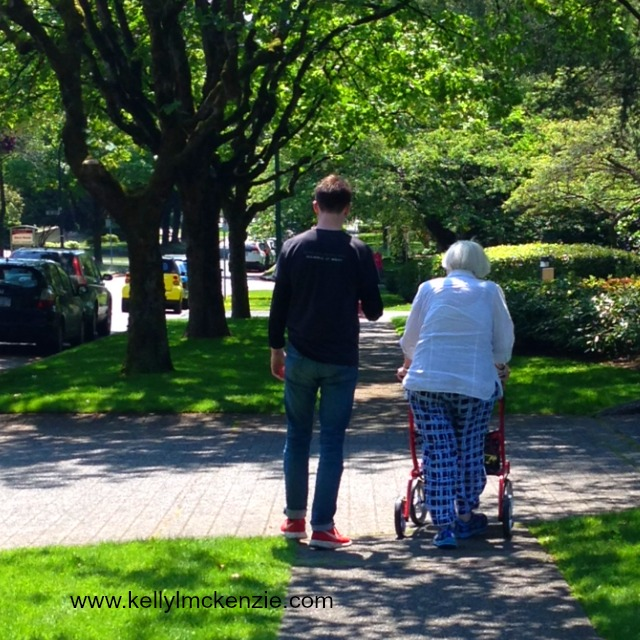 Grandmother and grandson taking a stroll http://kellylmckenzie.com/what-mothers-really-want-for-mothers-day/